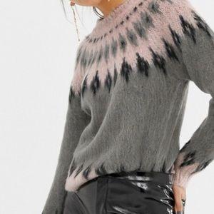 Veep Moda Geo-Tribal Knitted Sweater